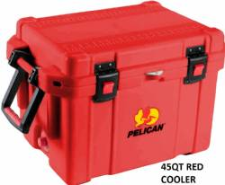 Pelican 45QT Red Ice Chest Cooler